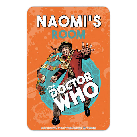 Fourth Doctor Personalised Door Plaque