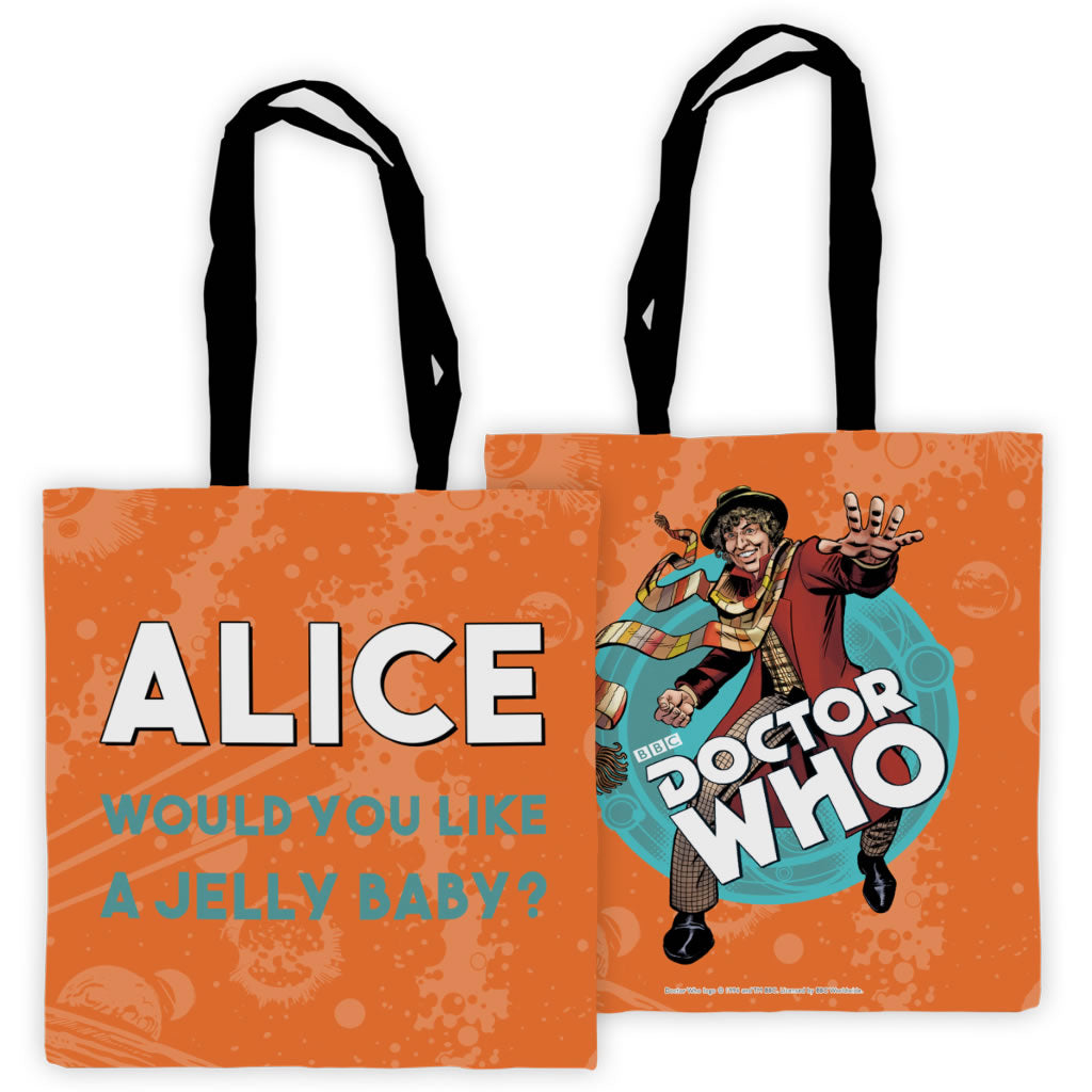Fourth Doctor Personalised Edge to Edge Tote