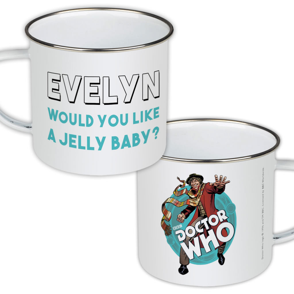 Fourth Doctor Personalised Enamel Mug