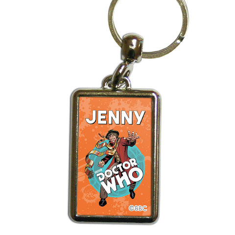 Fourth Doctor Personalised Metal Keyring