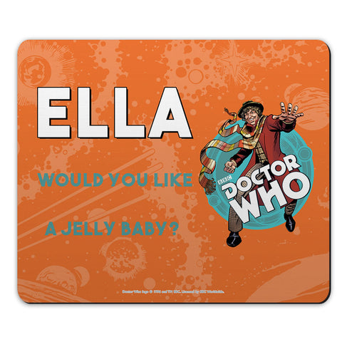 Fourth Doctor Personalised Mousemat