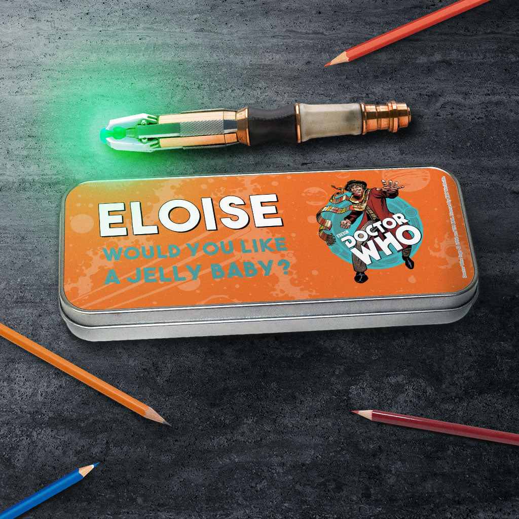 Fourth Doctor Personalised Pencil Tin (Lifestyle)