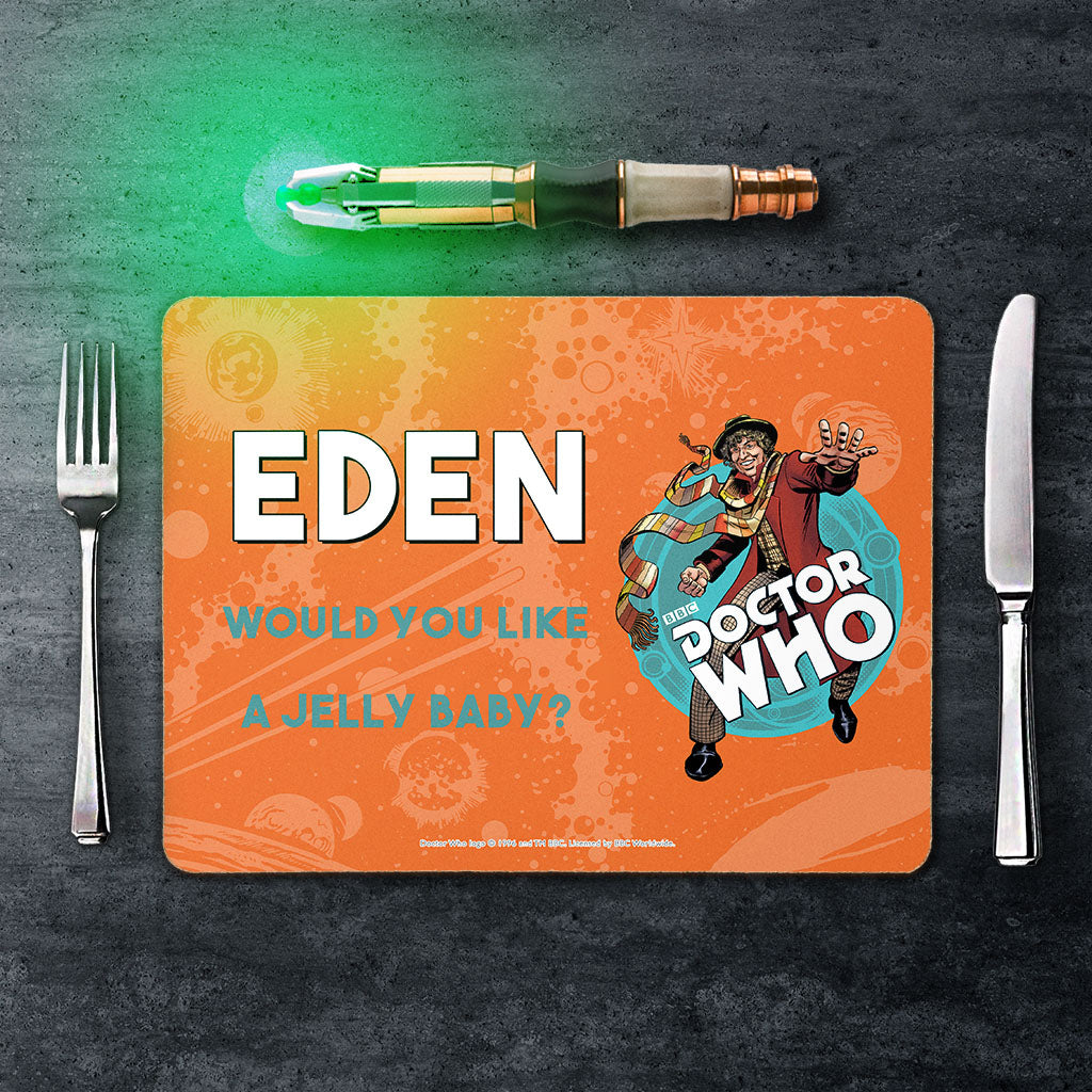Fourth Doctor Personalised Placemat (Lifestyle)