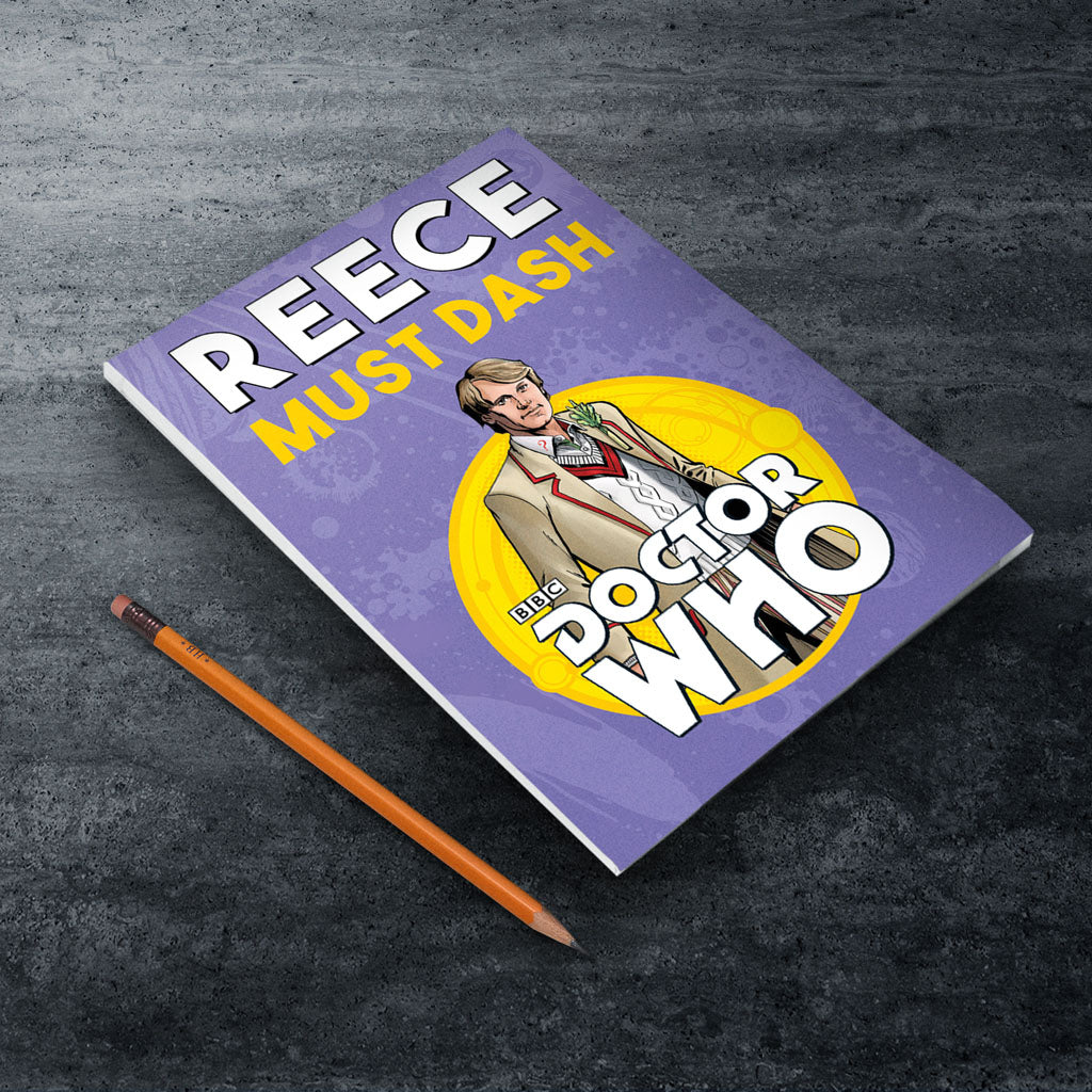 Fifth Doctor Personalised A5 Notepad (Lifestyle)