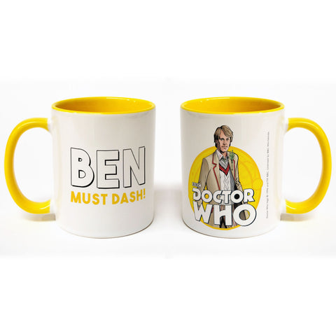 Fifth Doctor Personalised Colour Insert Mug