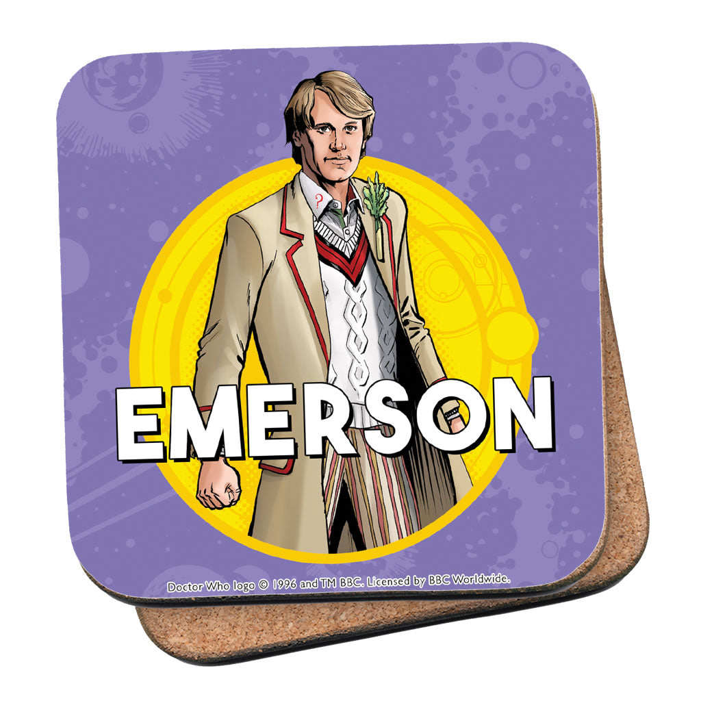 Fifth Doctor Personalised Coaster