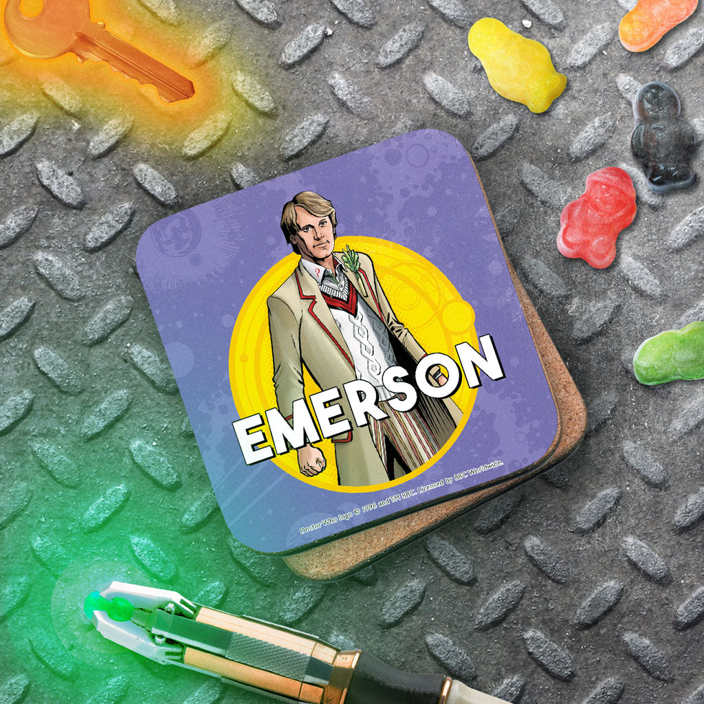 Fifth Doctor Personalised Coaster (Lifestyle)