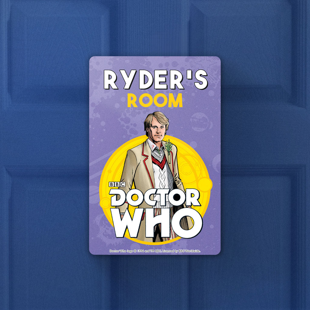 Fifth Doctor Personalised Door Plaque (Lifestyle)