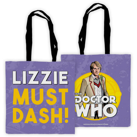Fifth Doctor Personalised Edge to Edge Tote