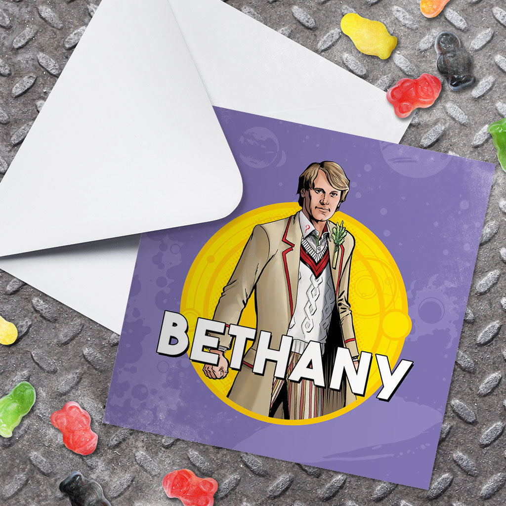 Fifth Doctor Personalised Greeting Card (Lifestyle)