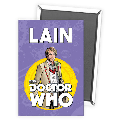 Fifth Doctor Personalised Magnet