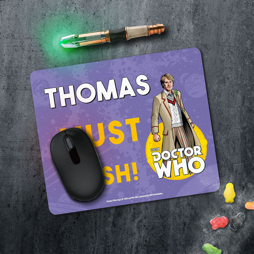 Fifth Doctor Personalised Mousemat (Lifestyle)