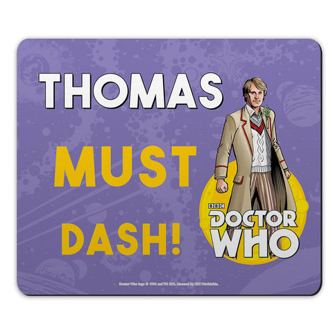 Fifth Doctor Personalised Mousemat
