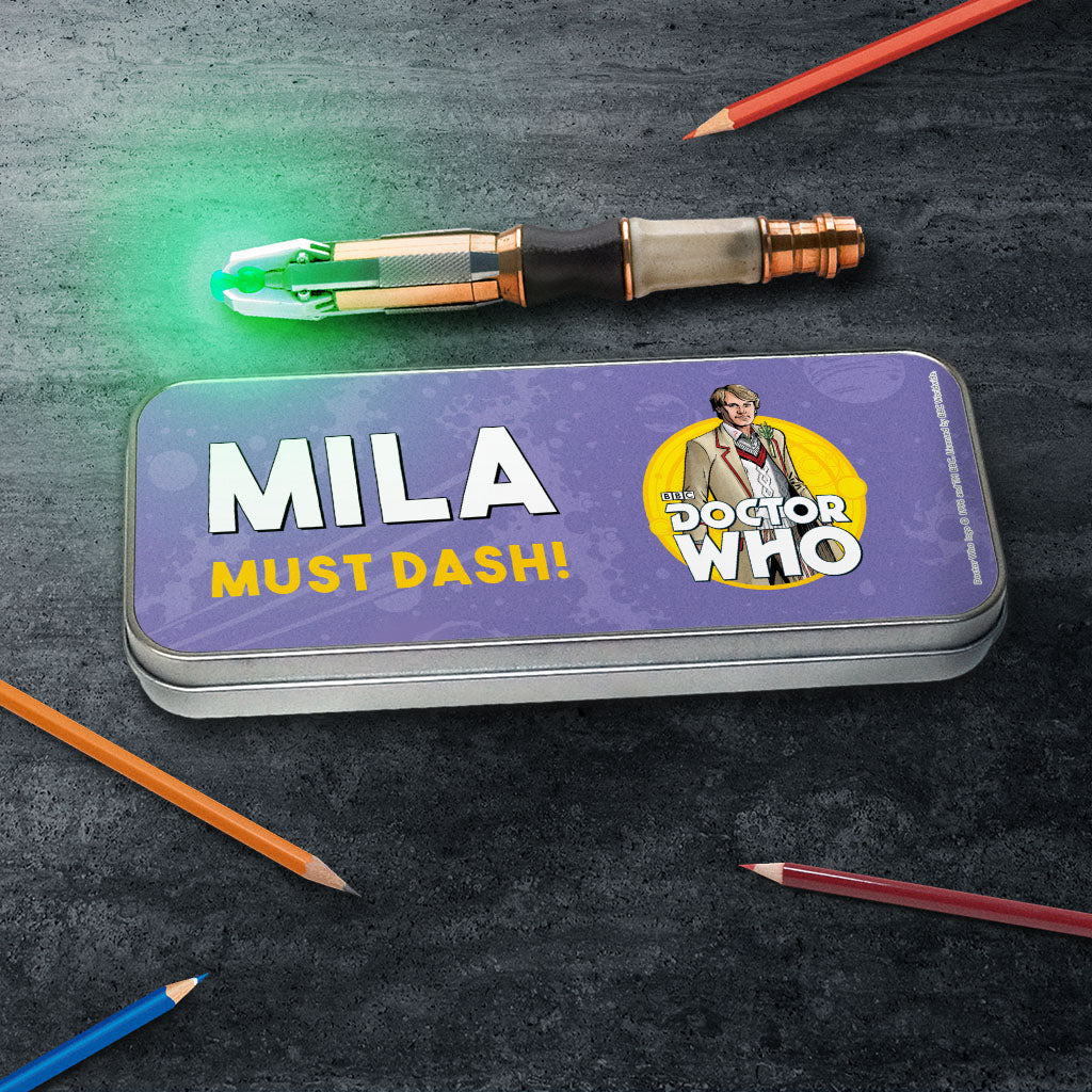 Fifth Doctor Personalised Pencil Tin (Lifestyle)