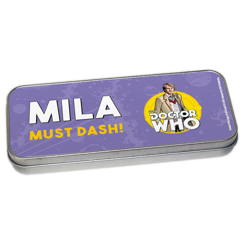Fifth Doctor Personalised Pencil Tin