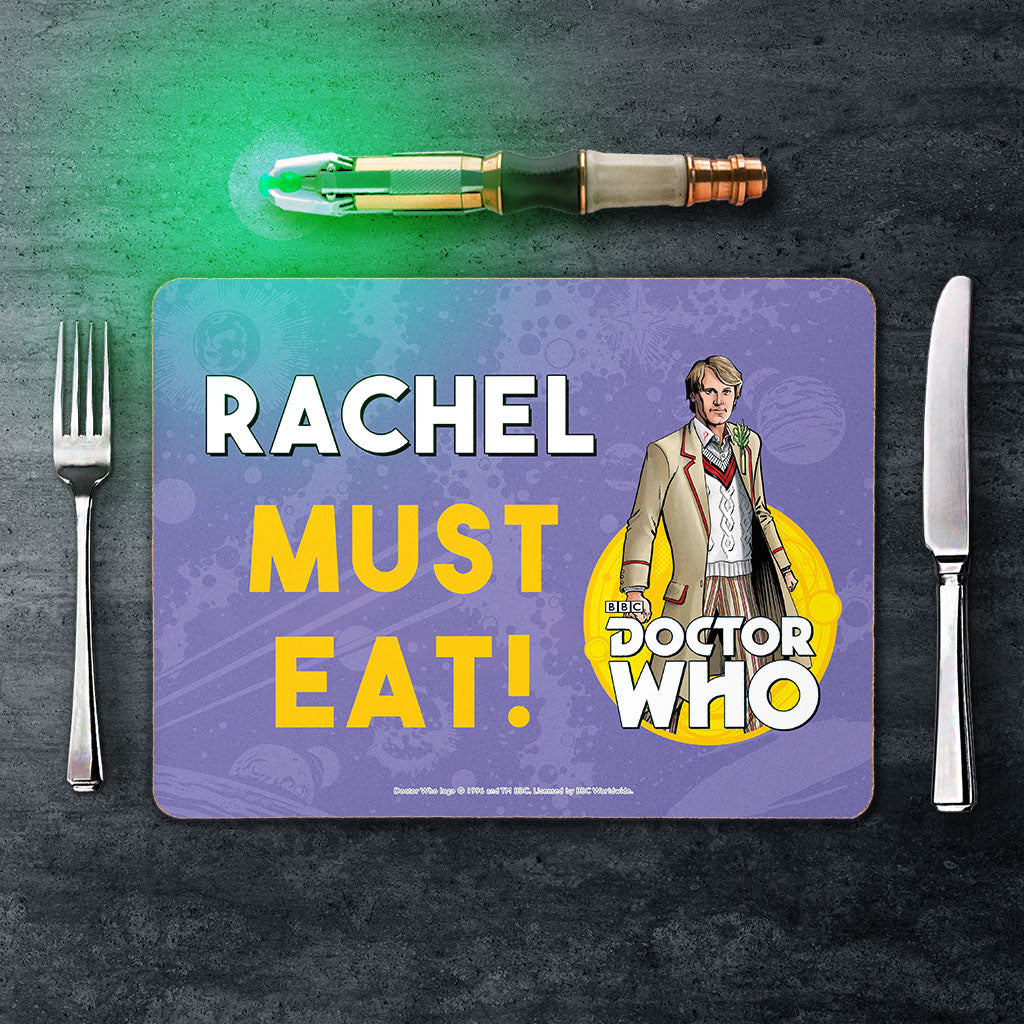 Fifth Doctor Personalised Placemat (Lifestyle)
