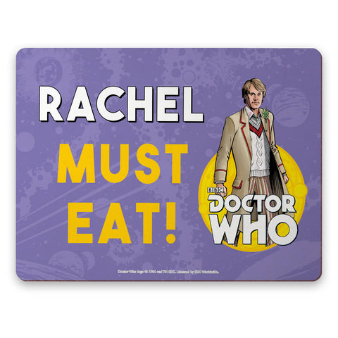 Fifth Doctor Personalised Placemat