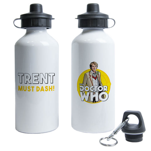 Fifth Doctor Personalised Water Bottle