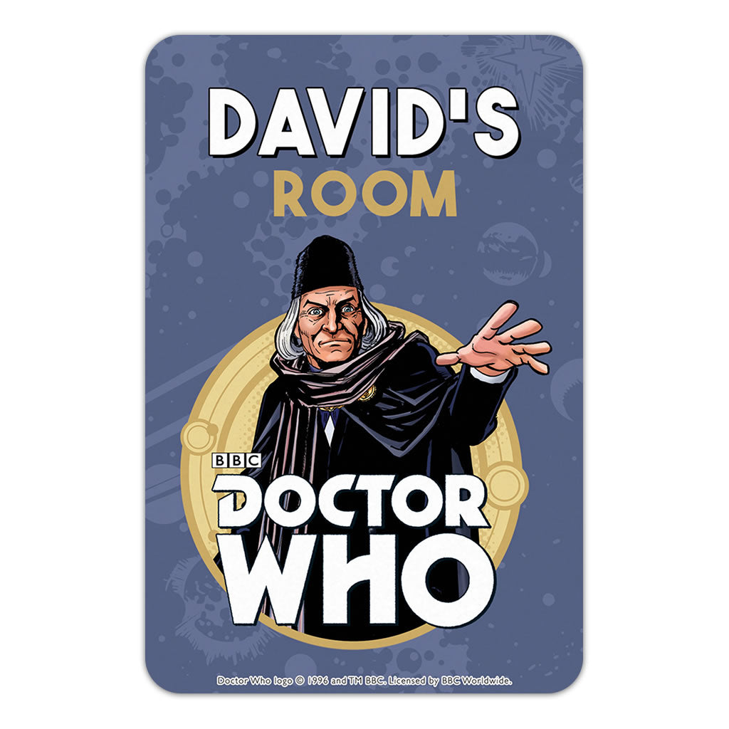 First Doctor Personalised Door Plaque