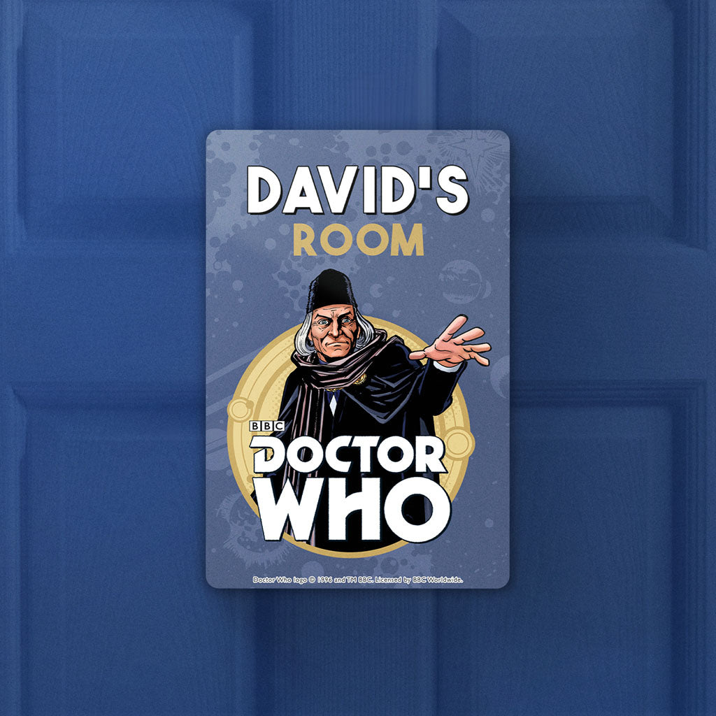 First Doctor Personalised Door Plaque (Lifestyle)