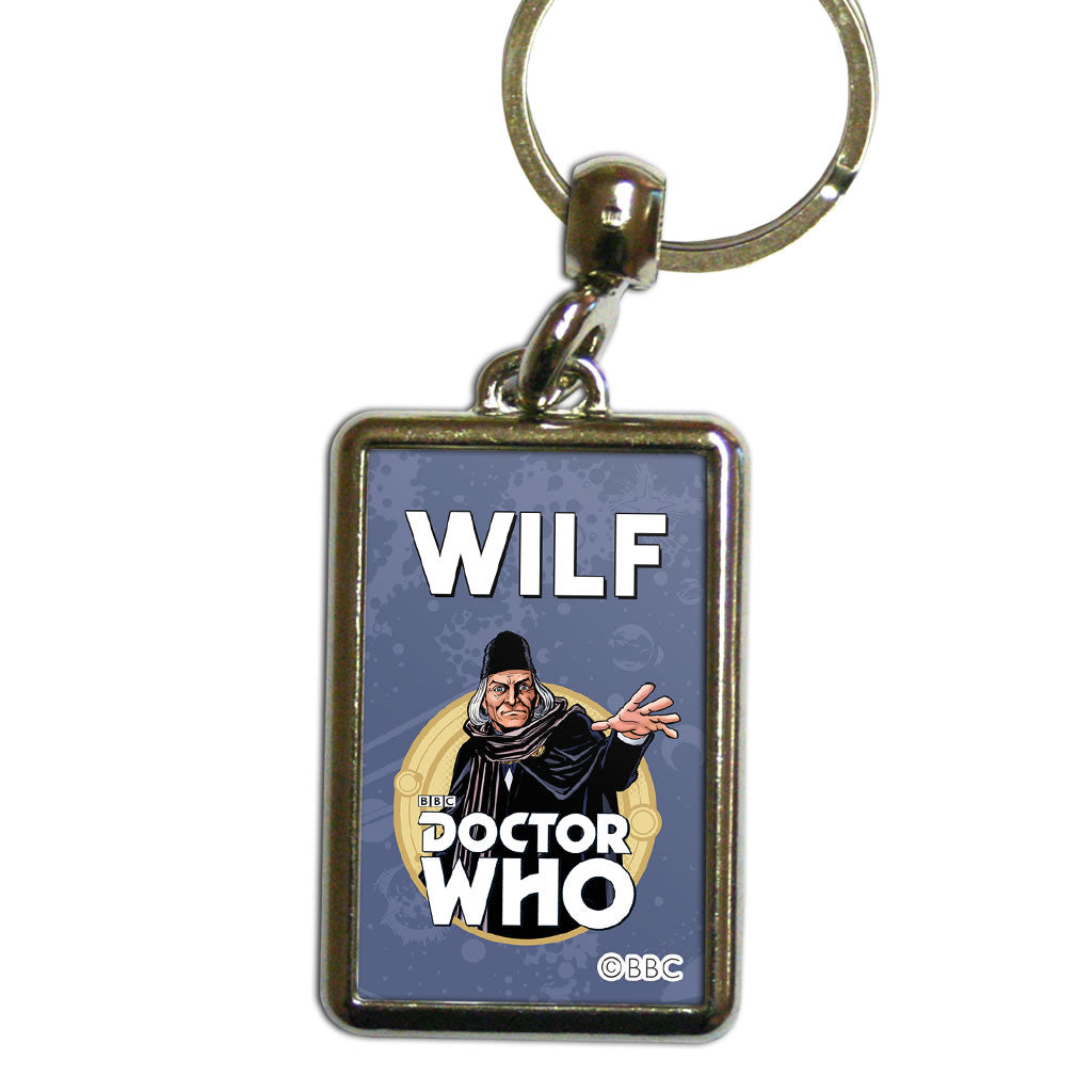 First Doctor Personalised Metal Keyring