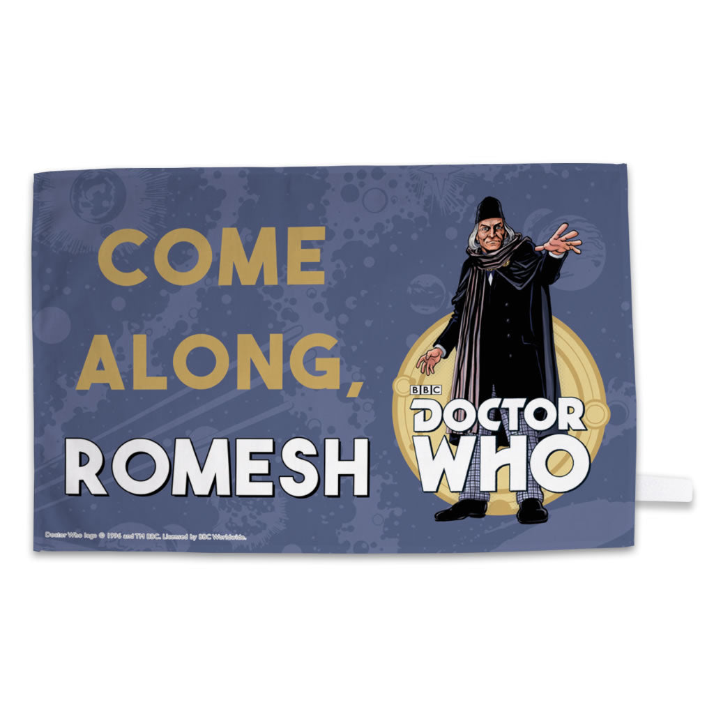 First Doctor Personalised Tea Towel