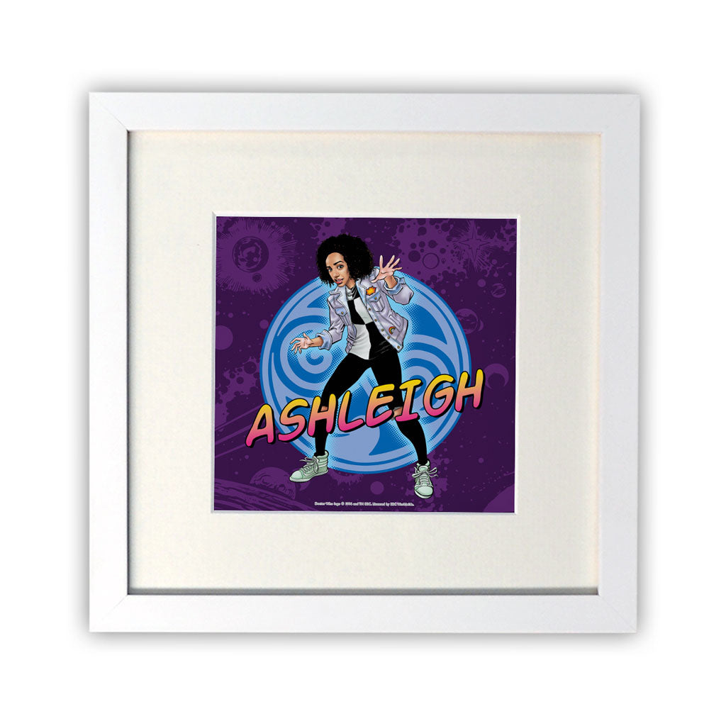 Bill Potts Personalised Square White Framed Print
