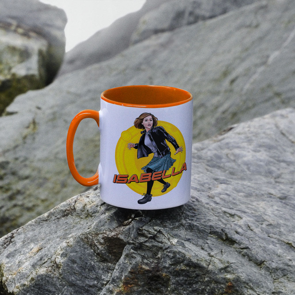 Clara Oswald Personalised Colour Insert Mug (Lifestyle)