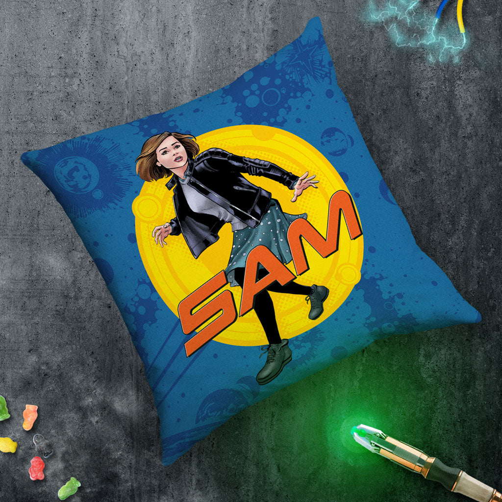 Clara Oswald Personalised Cushion (Lifestyle)