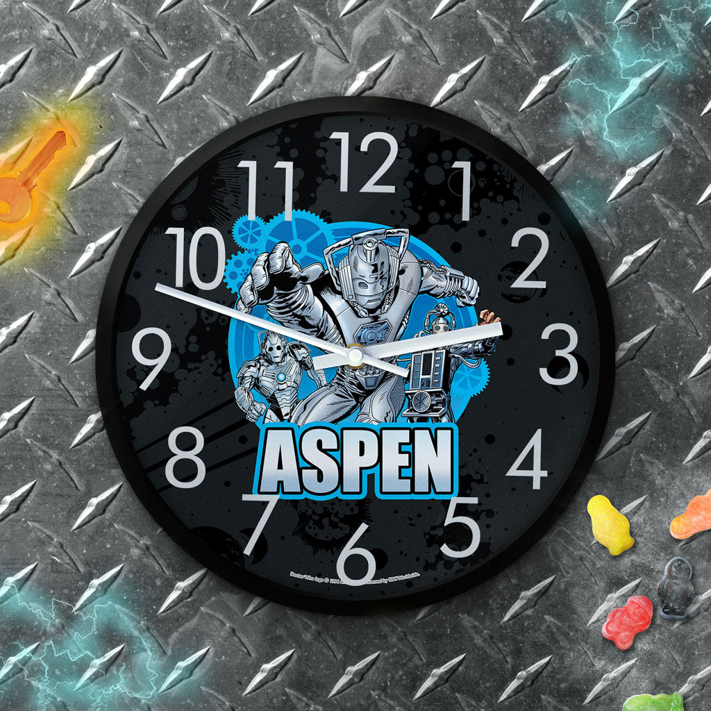 Cybermen Personalised Clock