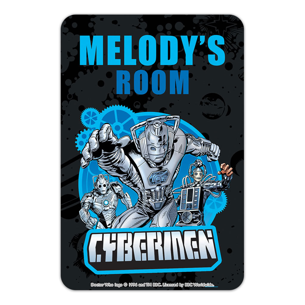 Cybermen Personalised Door Plaque