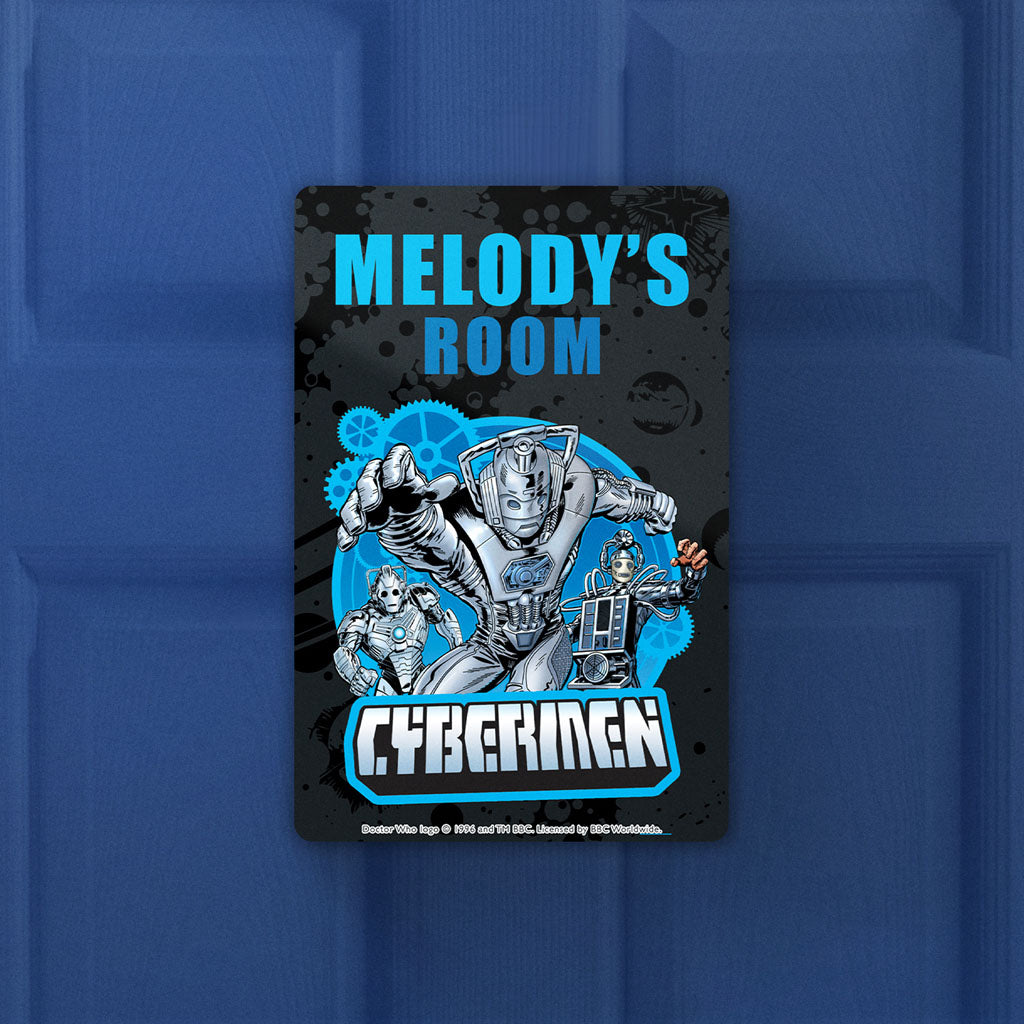 Cybermen Personalised Door Plaque (Lifestyle)
