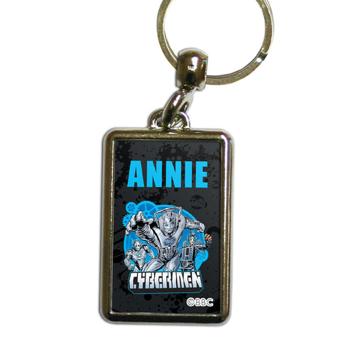 Cybermen Personalised Metal Keyring