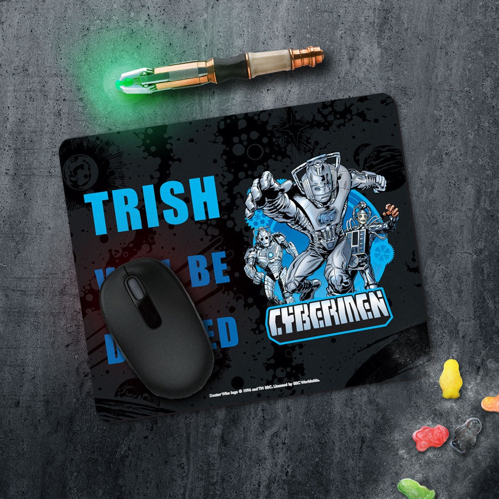 Cybermen Personalised Mousemat (Lifestyle)
