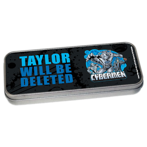 Cybermen Personalised Pencil Tin