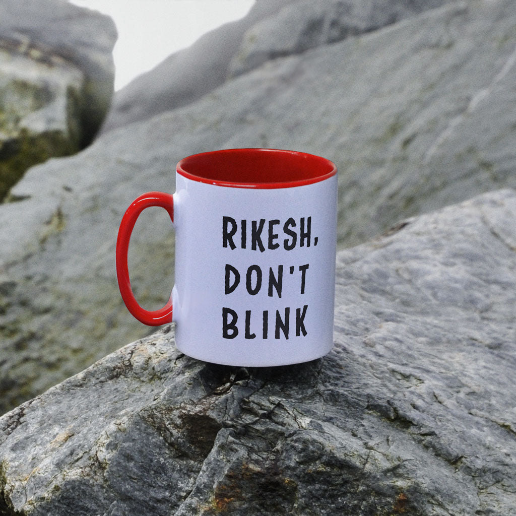 Weeping Angel Personalised Colour Insert Mug (Lifestyle)