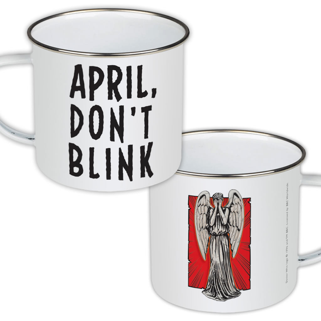 Weeping Angel Personalised Enamel Mug