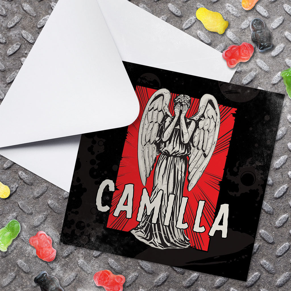 Weeping Angel Personalised Greeting Card (Lifestyle)