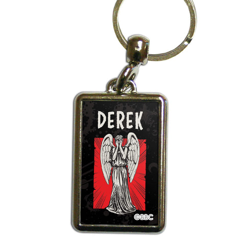 Weeping Angel Personalised Metal Keyring