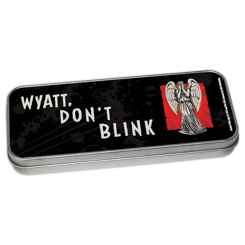Weeping Angel Personalised Pencil Tin