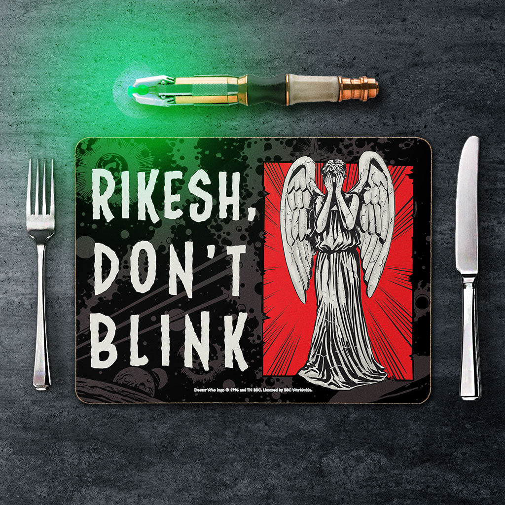 Weeping Angel Personalised Placemat (Lifestyle)