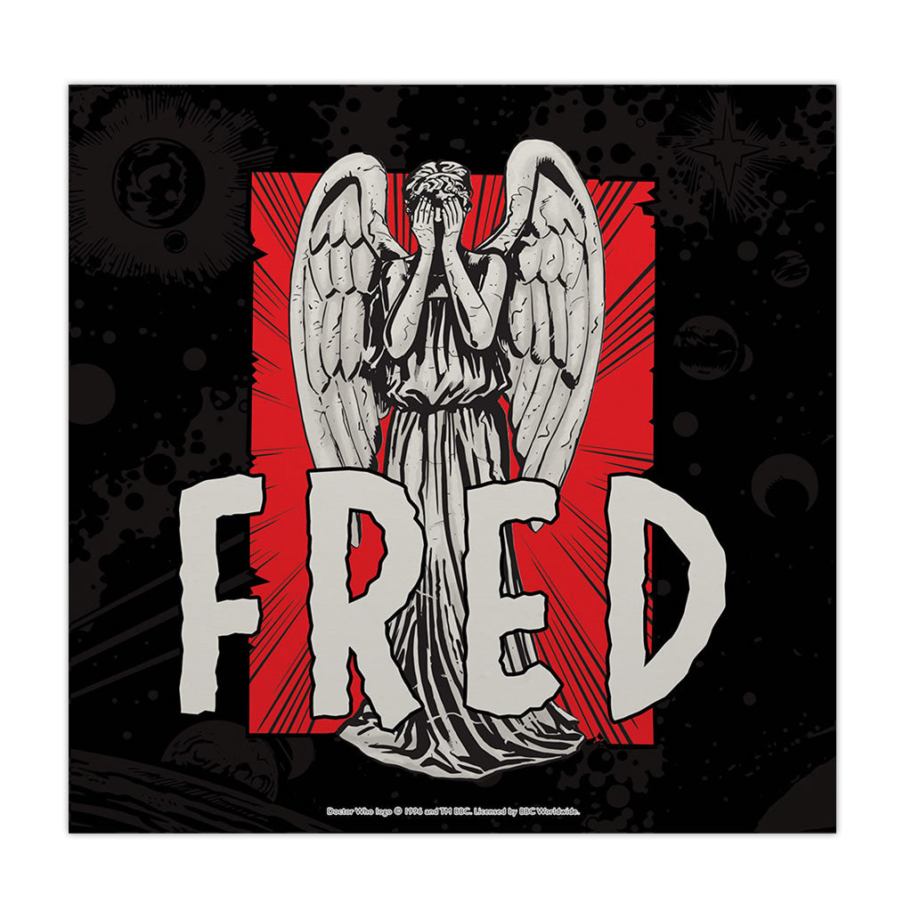 Weeping Angel Personalised Square Art Print