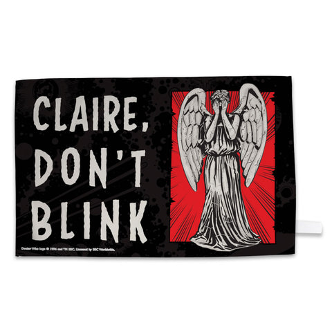 Weeping Angel Personalised Tea Towel