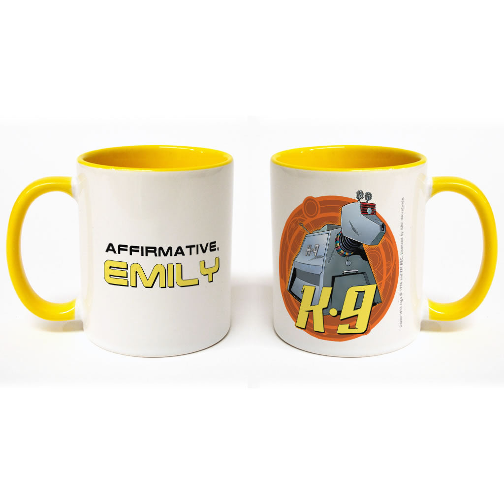 K9 Personalised Colour Insert Mug