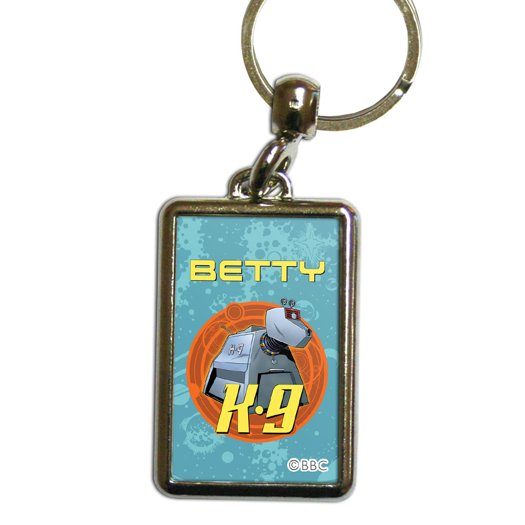 K9 Personalised Metal Keyring