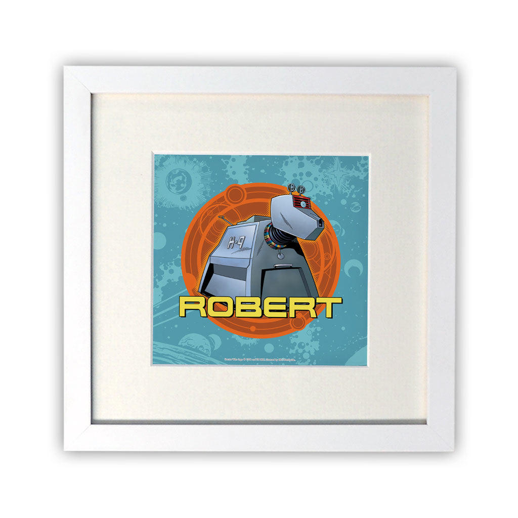 K9 Personalised Square White Framed Print