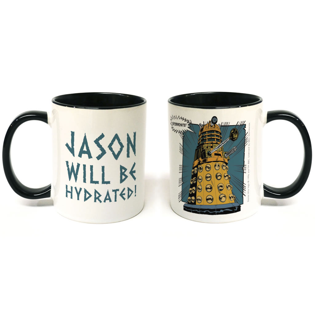 Dalek Personalised Colour Insert Mug