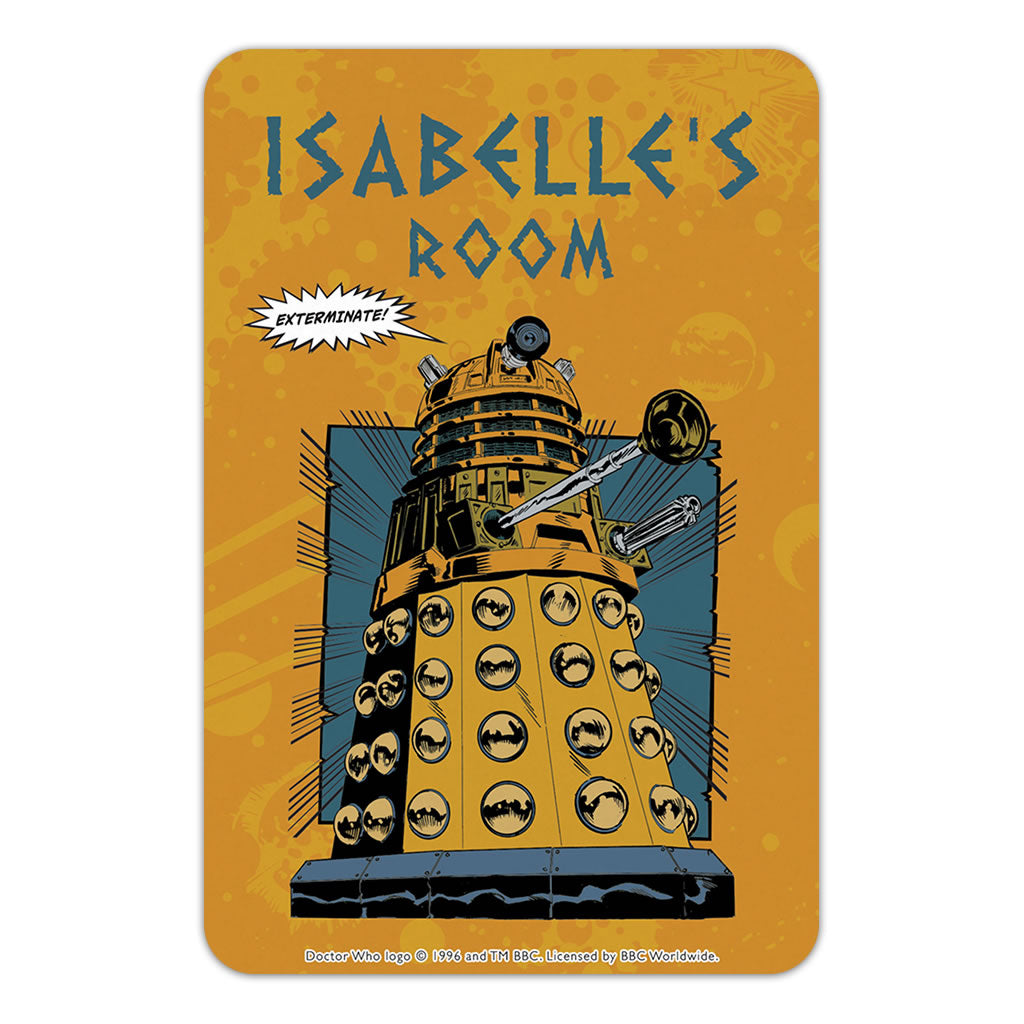 Dalek Personalised Door Plaque