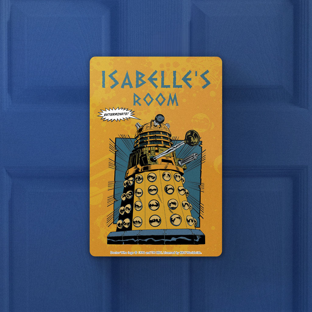 Dalek Personalised Door Plaque (Lifestyle)