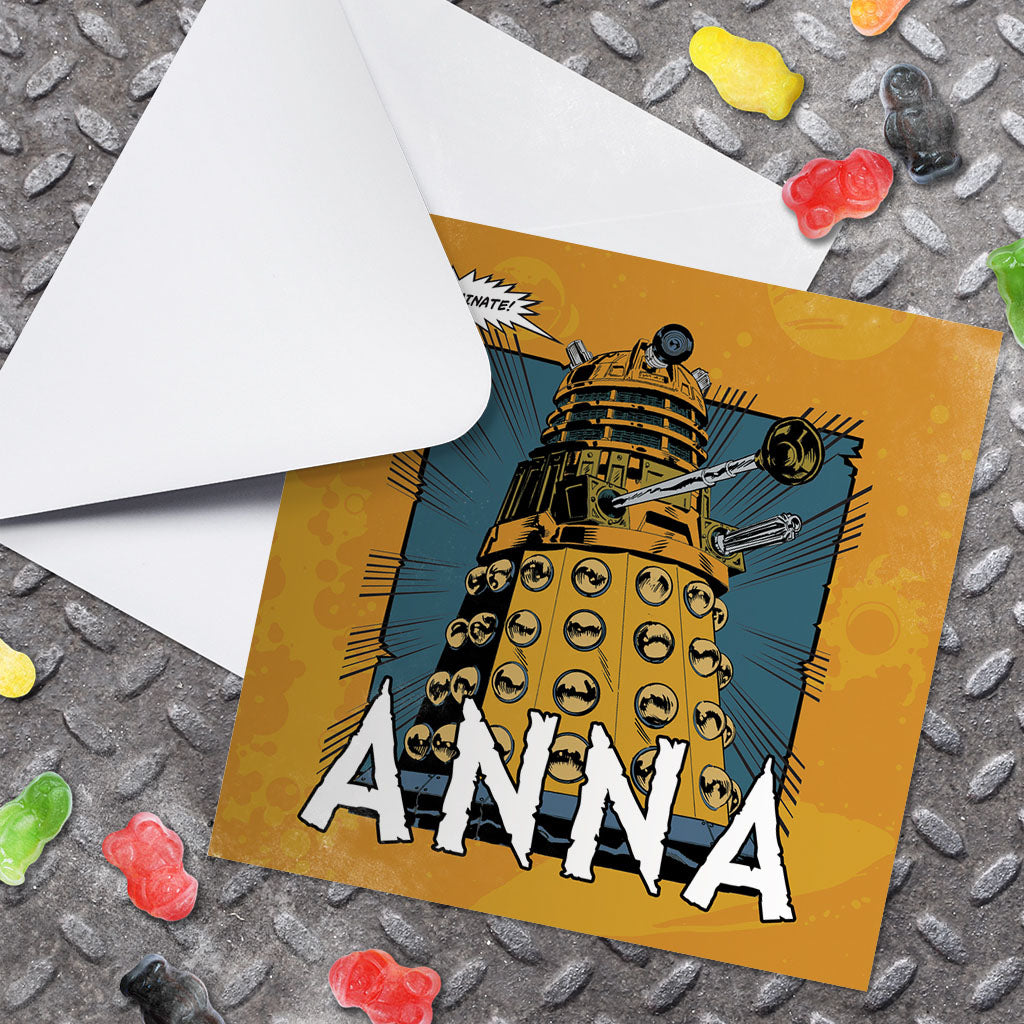Dalek Personalised Greeting Card (Lifestyle)